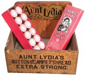 Aunt Lydia's Button & Carpet Thread Store Display