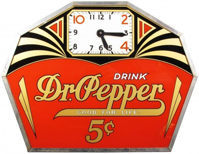567: Dr. Pepper Deco Style Clock