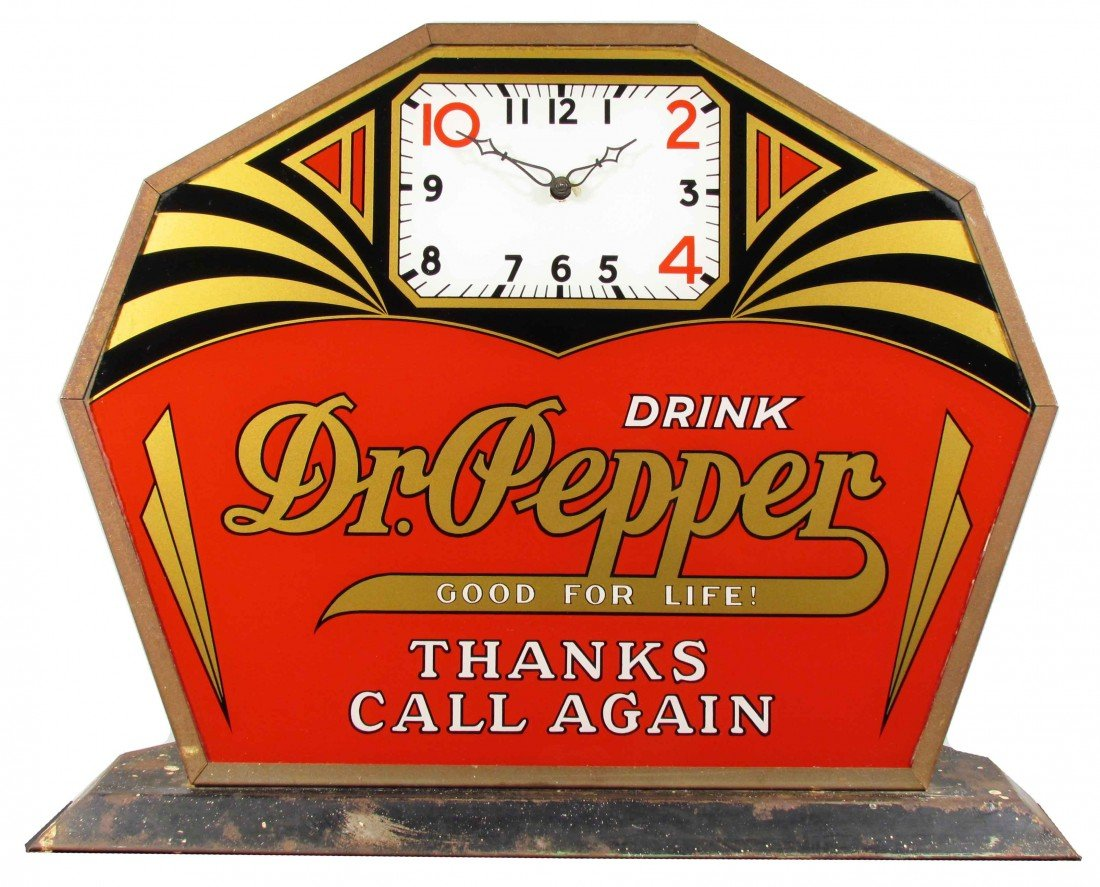 568: Dr. Pepper Deco Style Clock