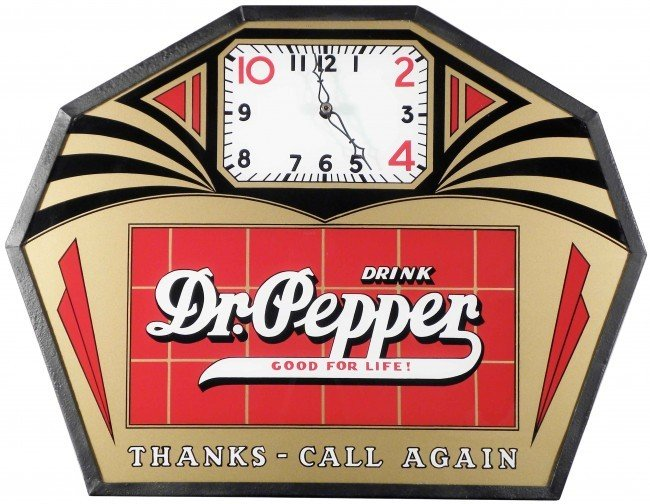 569: Dr. Pepper Deco Style Clock