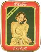 1211: 1930 Coca Cola Tin Serving Tray