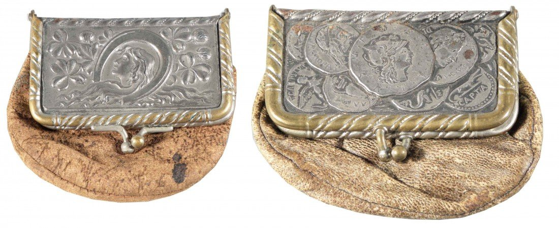 1303: Two Early Leather Coin Purses