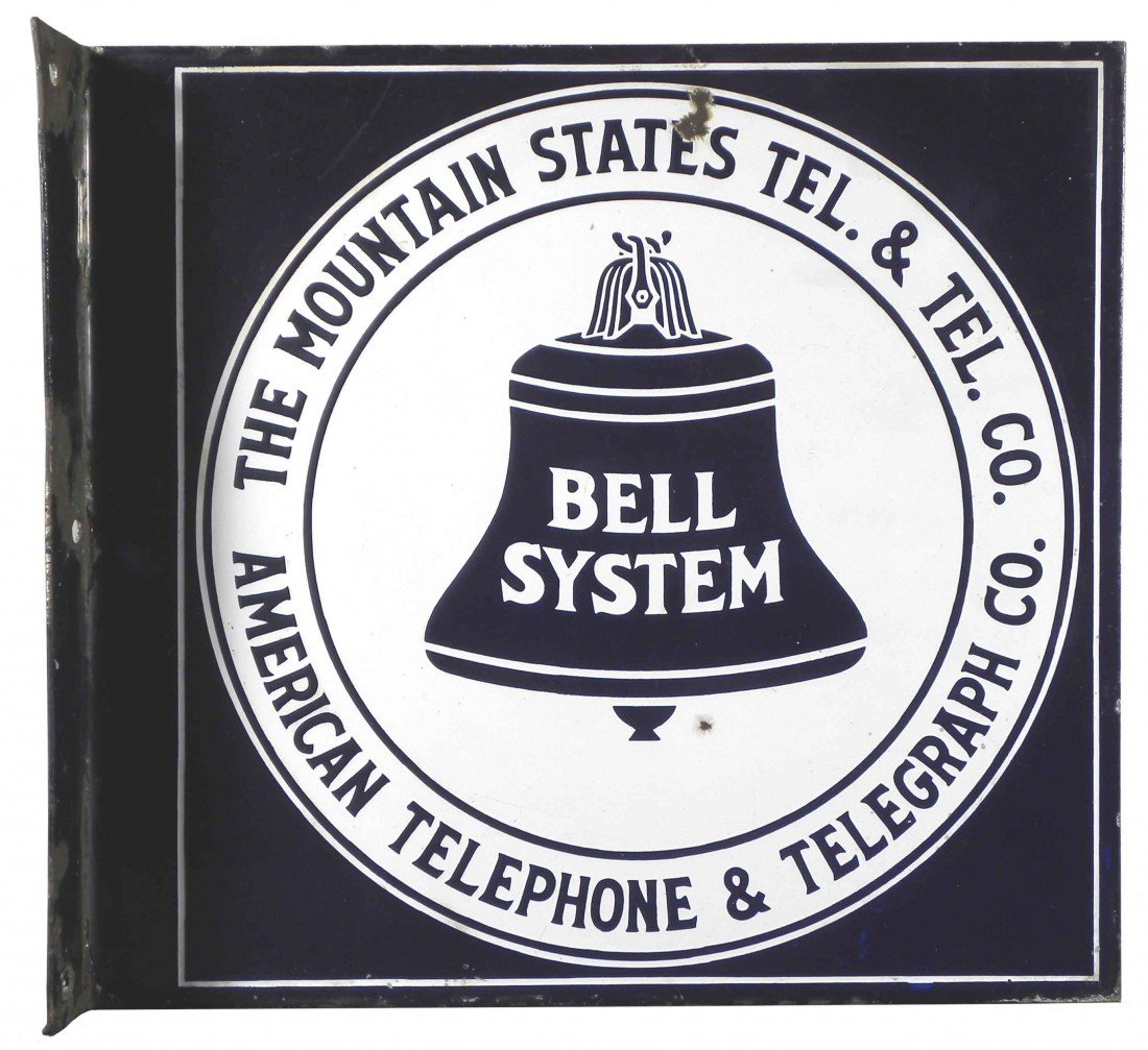 1310: Bell System Mountain States Porcelain Sign
