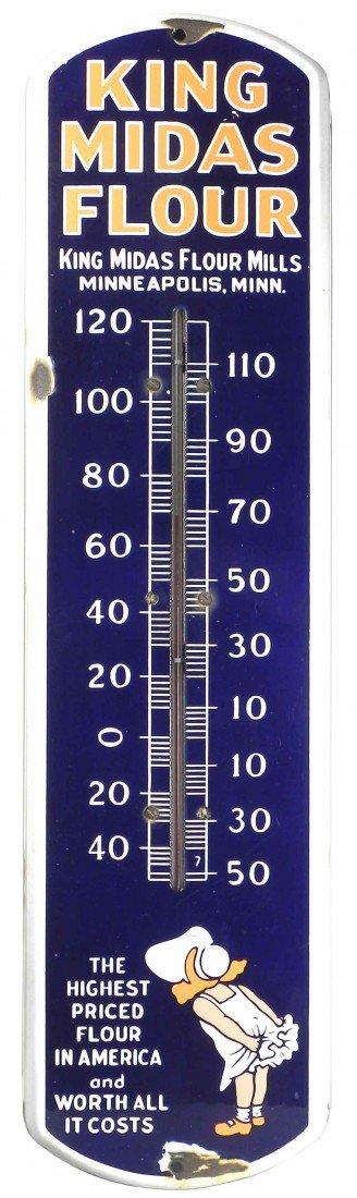 1321: King Midas Flour Mills Porcelain Thermometer