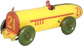 Tin Toy Key Wind Race Car