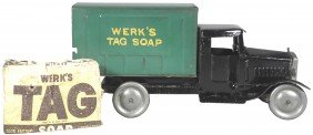 Werk's Tag Soap Pressed Steel Toy Truck