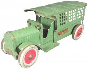 Structo Pressed Steel Toy Mail Truck