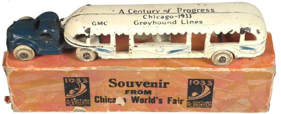 1545: Souvenir Chicago Worlds Fair Toy Greyhound Lines