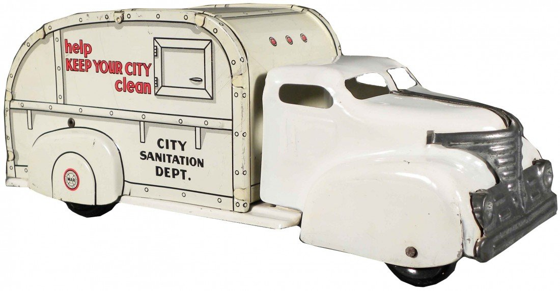 1546: Louis Marx Toys City Sanitation Dept Truck
