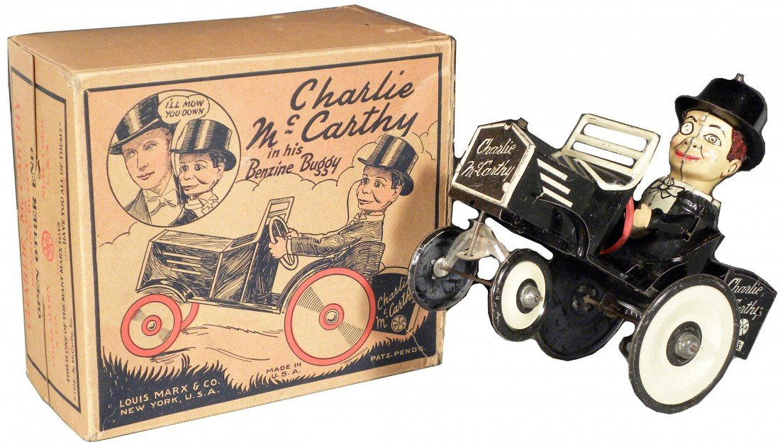 1554: Charlie McCarthy in his Benzine Buggy Tin Wind-Up