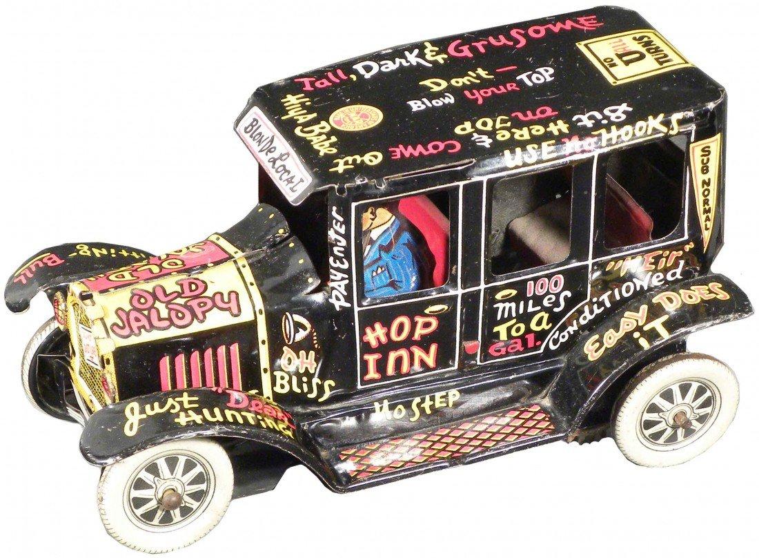 "1561: Marx ""Old Jalopy"" Tin Wind-Up Toy Car"