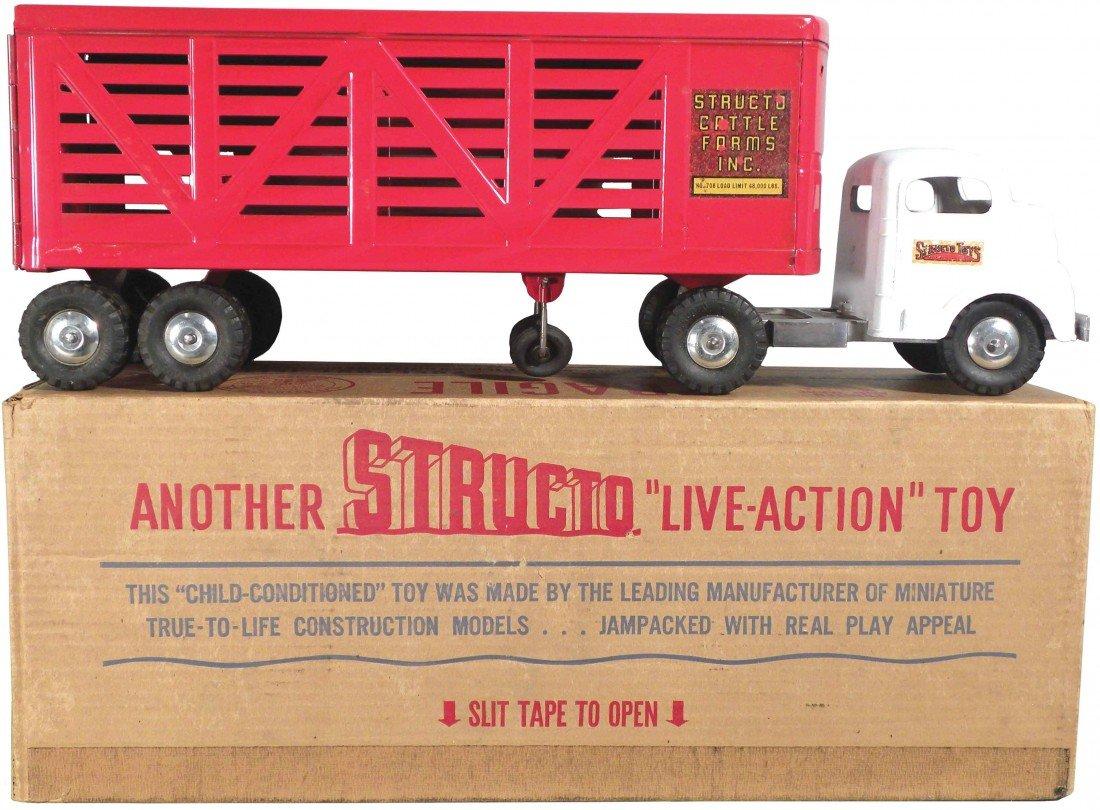 1562: Structo No. 708 Cattle Truck in original box