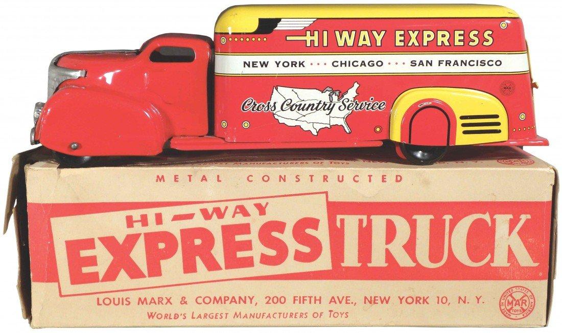 1563: Louis Marx Toys Hi Way Express Truck w/box