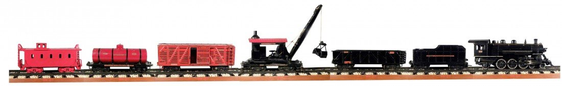 1569: Buddy L Pressed Steel Outdoor Toy Train