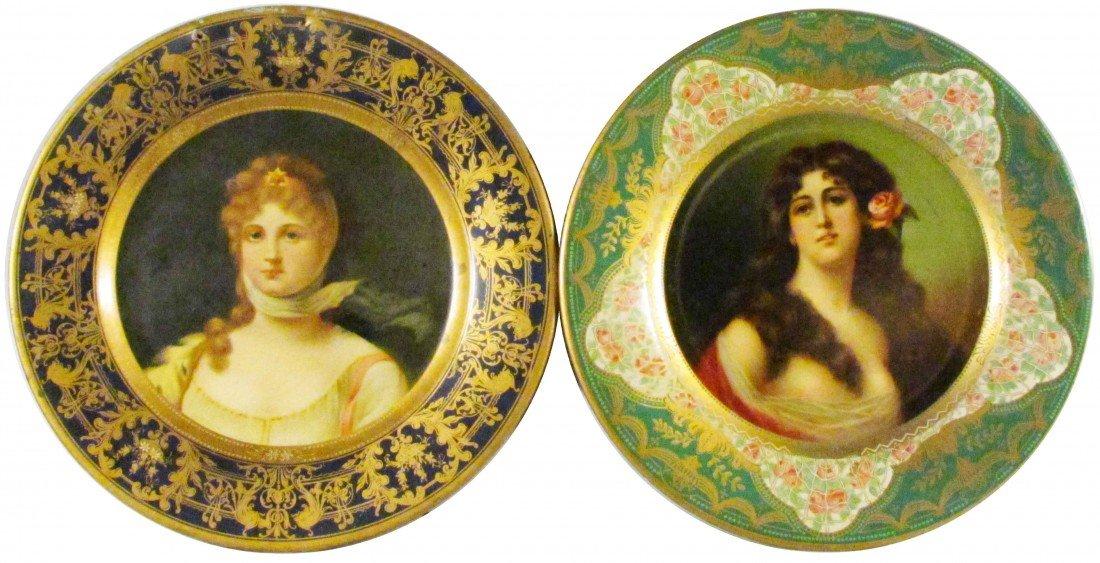 505: Two Advertising Vienna Art Plates