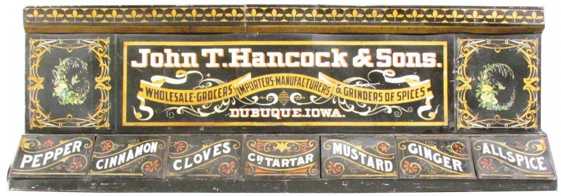 508: John T. Hancock & Son Tin Store Spice Bin