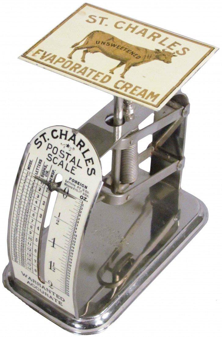 509: St. Charles Evaporated Cream Adv. Postal Scale