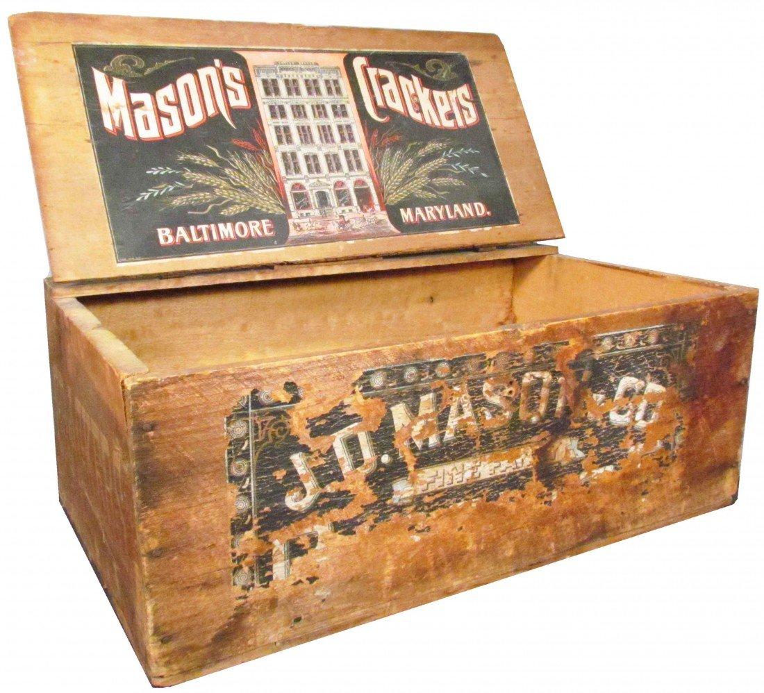 511: J.D. Mason & Company Wood Cracker Crate
