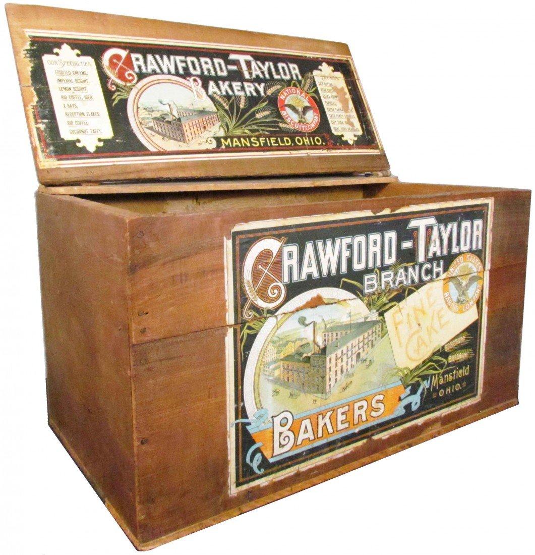 515: Crawford-Taylor Wood Biscuit Crate