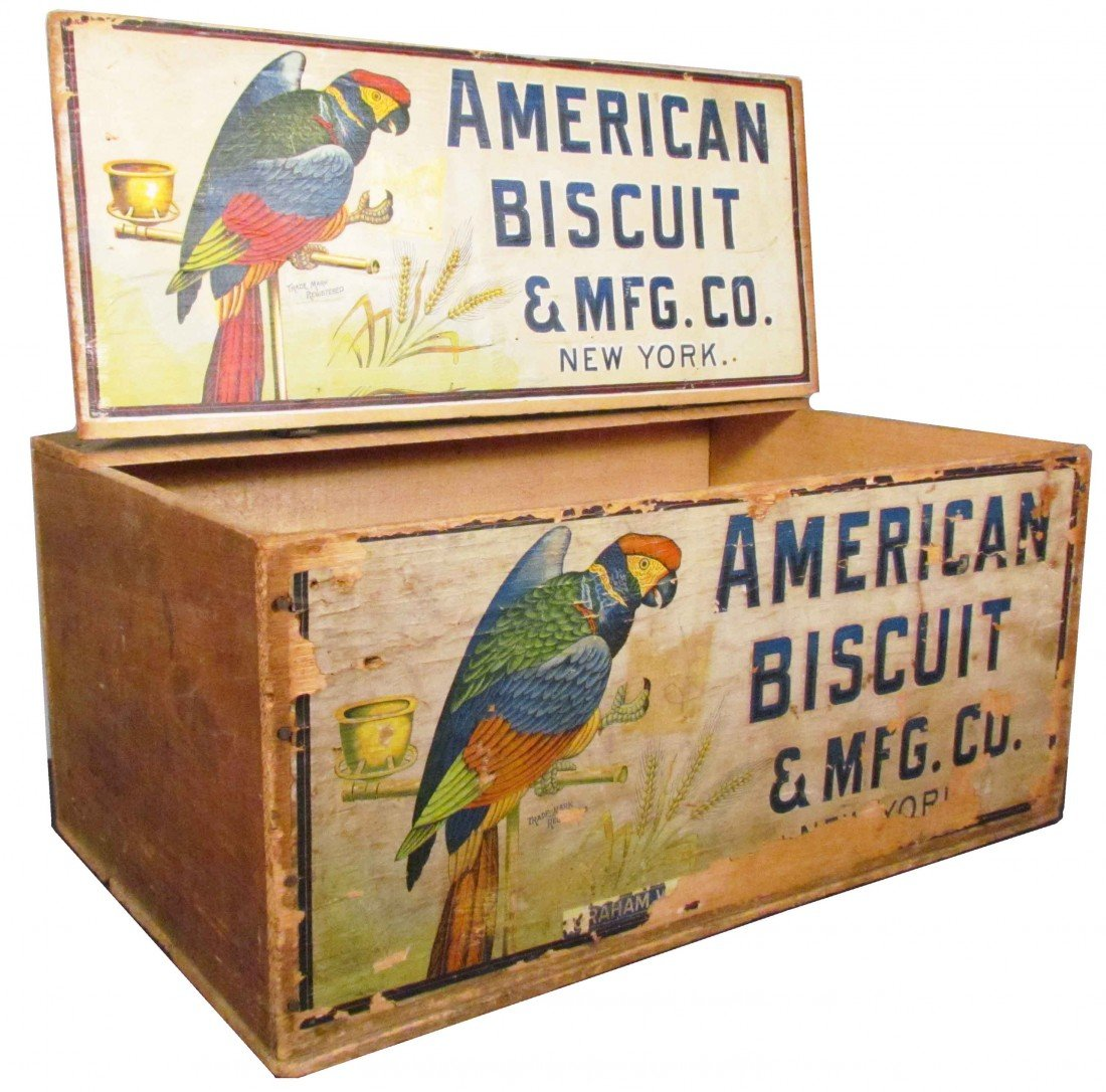 518: American Biscuit Company Wood Crate