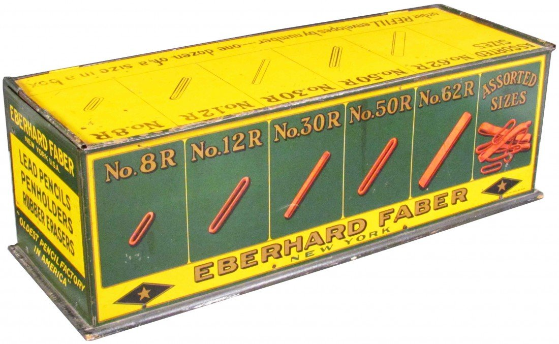 520: Eberhard Faber Ruby Bands Tin Store Display