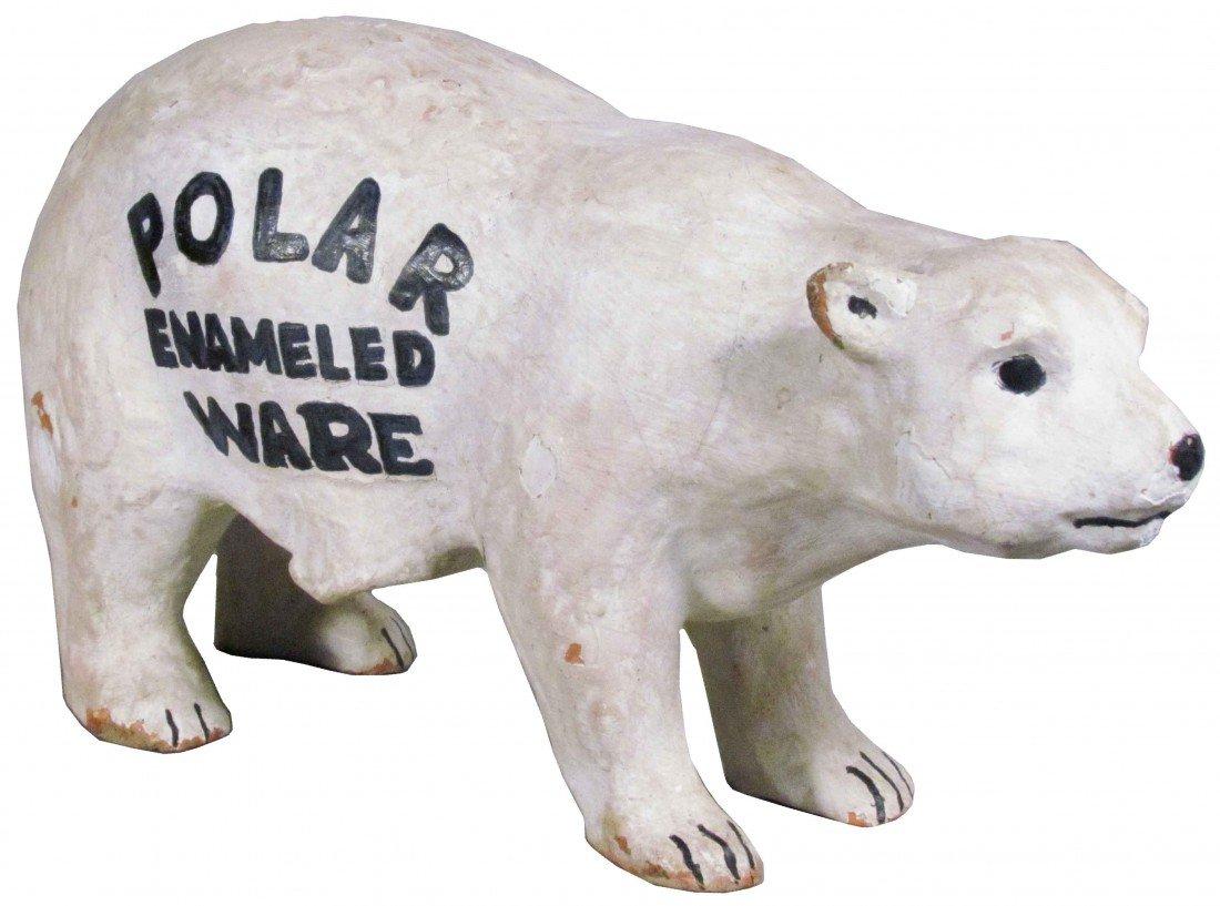 520A: Polar Enameled Ware Papier Mache Store Display