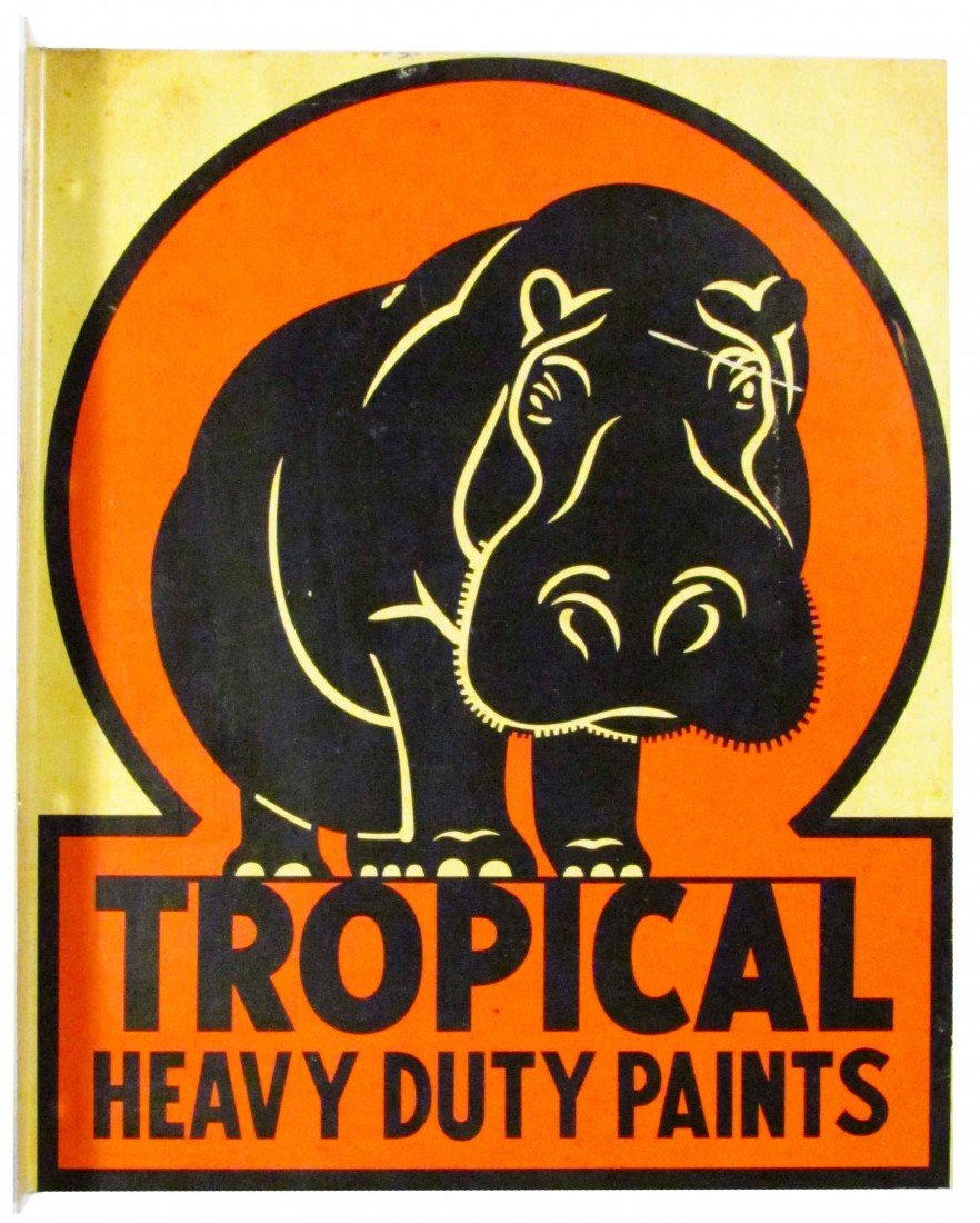 1308: Tropical Heavy Duty Paints Tin Flange Sign