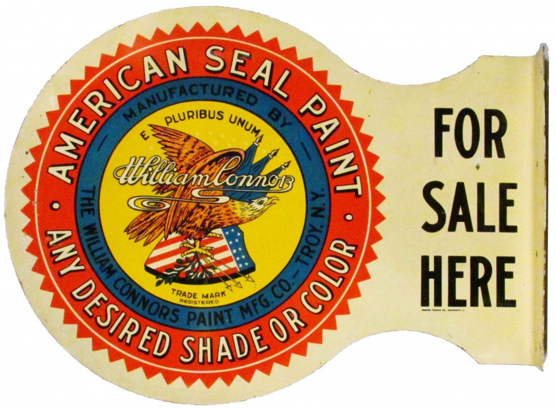 1312: American Seal Paint Steel Flange Sign