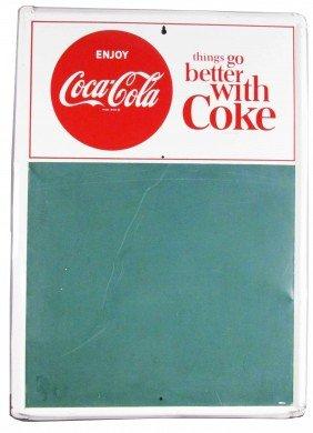 1956 Coca Cola Embossed Tin Blackboard