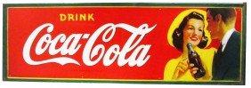 1941 Coca Cola Self Framed Tin Sign