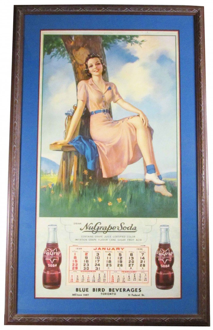 1374: 1939 Calendar for Nu Grape Soda