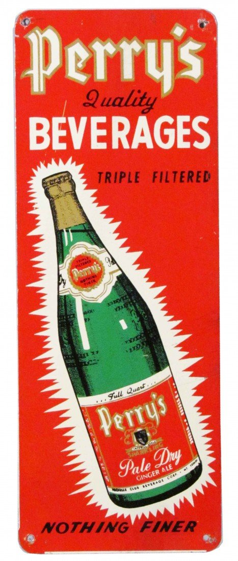 1375: Perry's Quality Beverages Tin Door Push