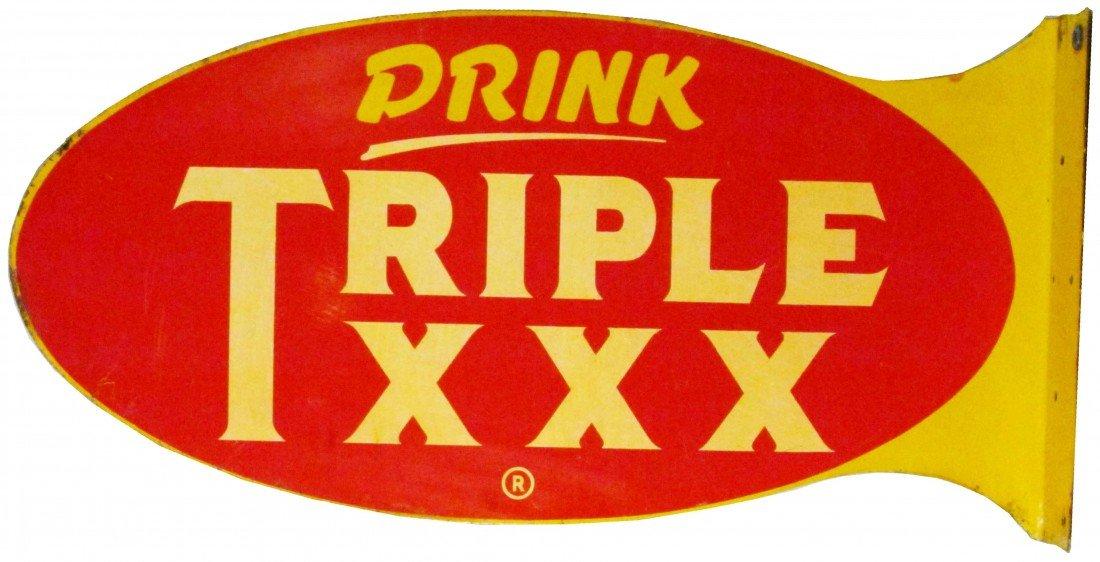 1383: Drink Triple XXX Steel Flange Sign
