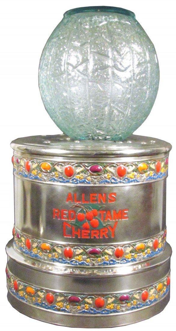 1385: Allen's Red Tame Cherry Soda Dispenser