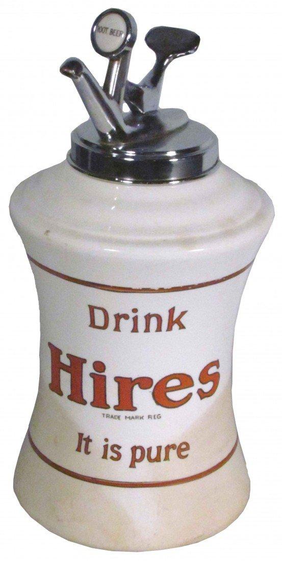 1387: Hires Mae West Porcelain Syrup Dispenser