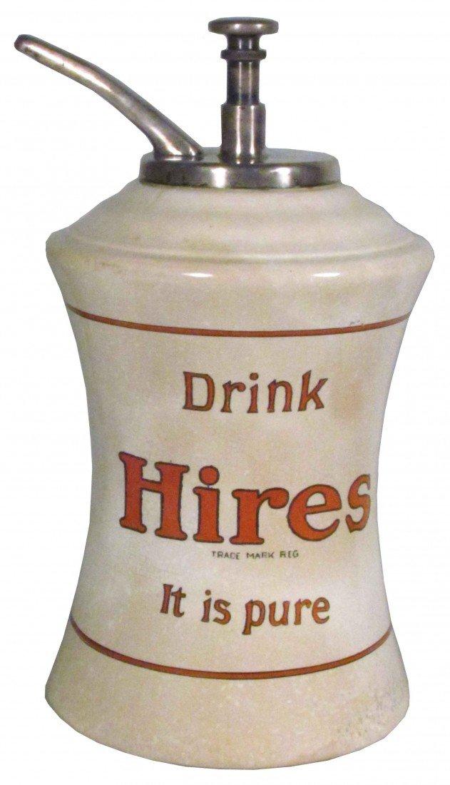 1389: Hires Mae West Porcelain Syrup Dispenser