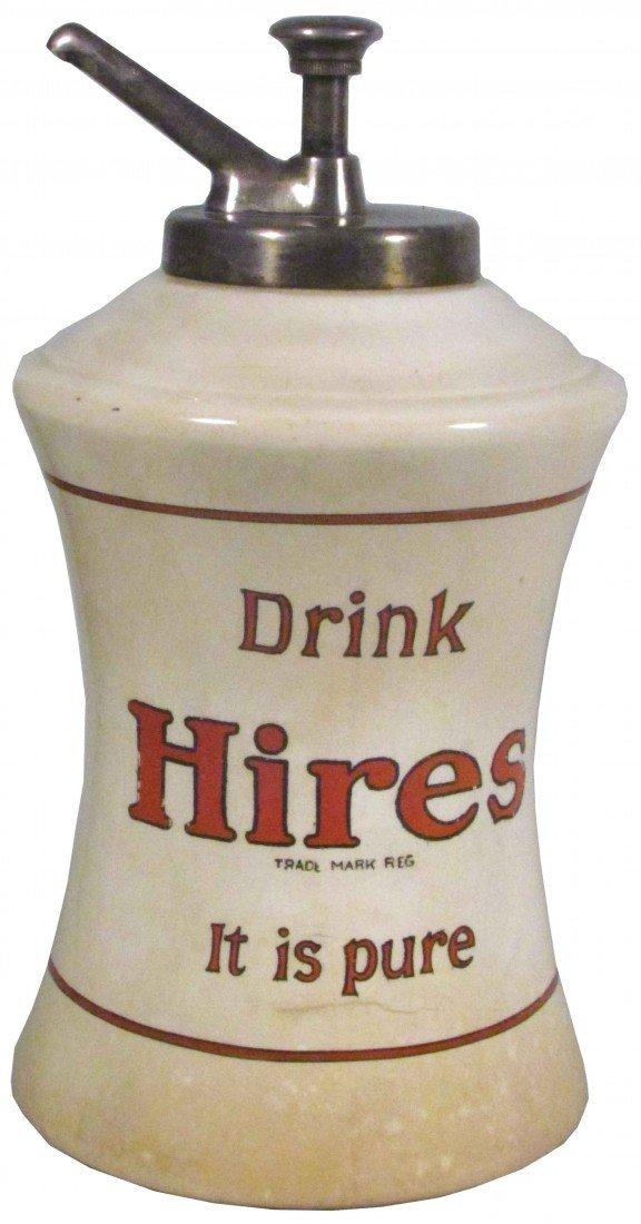 1390: Hires Mae West Porcelain Syrup Dispenser