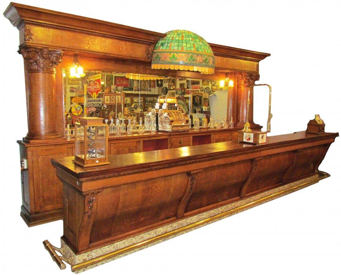 "1468: Brunswick ""San Domingo"" Saloon Front and Back Bar"