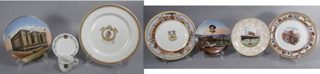 692: Souvenir Plate and Dishes From Hotel Multmomah