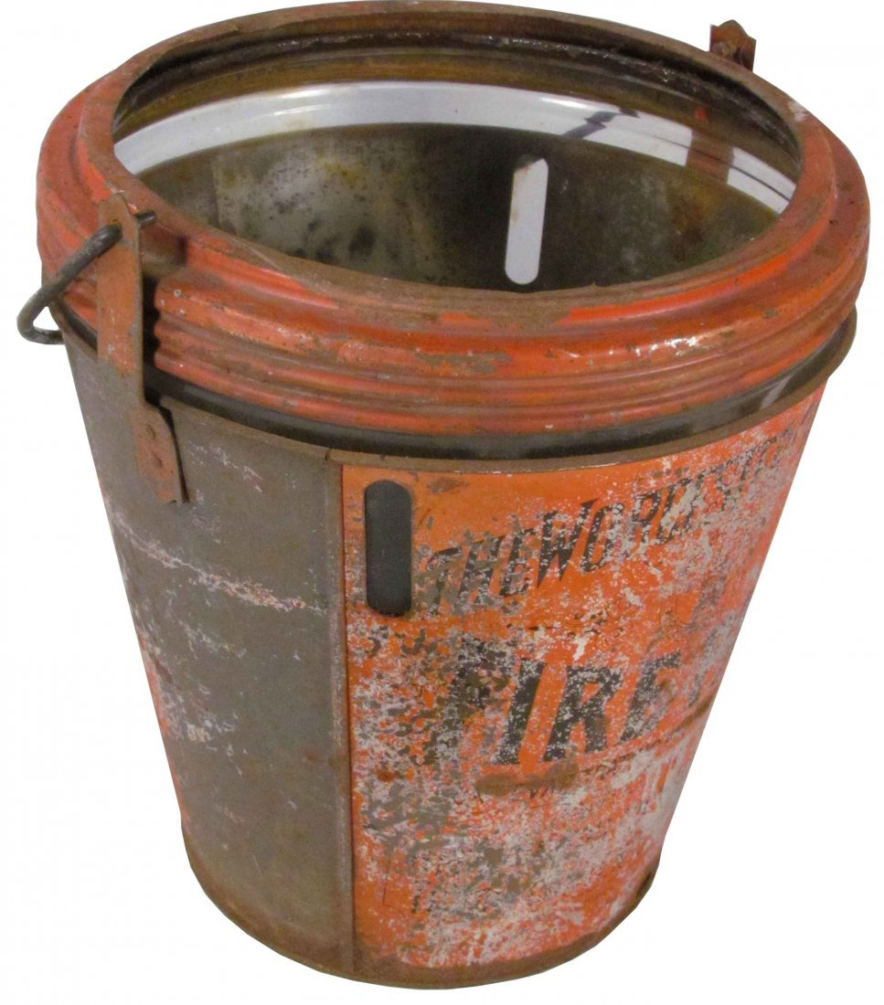 1307: Rare and Unusual Worchester Chemical Fire Pail