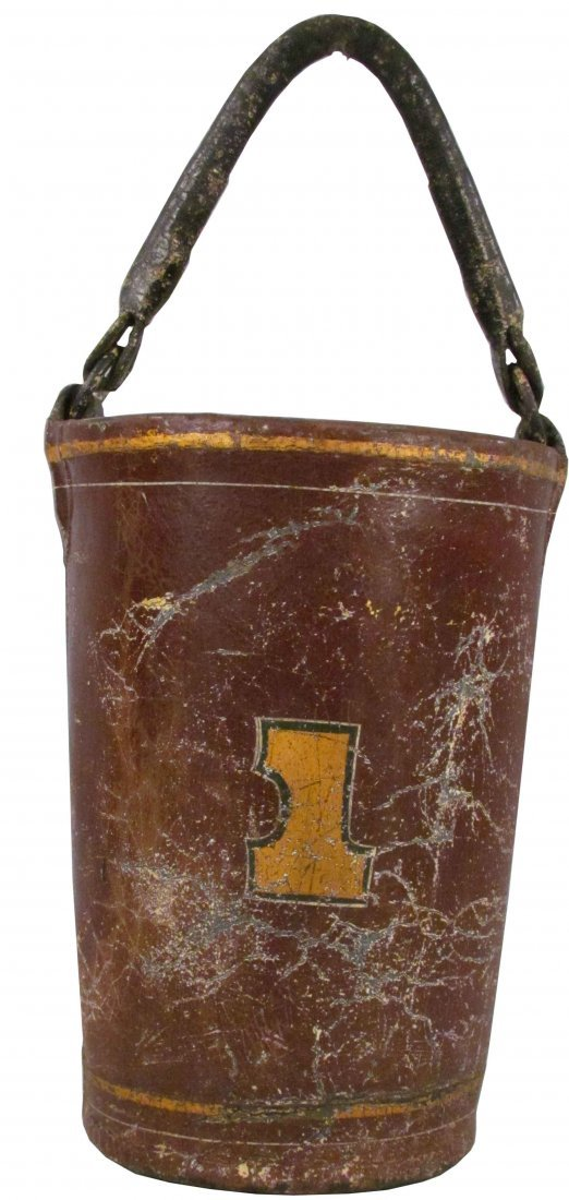 1314: Volcanized Rubber Fire Bucket