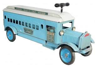 1636: Extremely Rare Keystone Greyhound Toy Bus No. 84