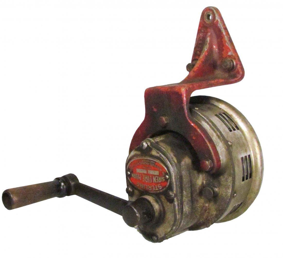1855: Sterling Hand Crank Fire Siren
