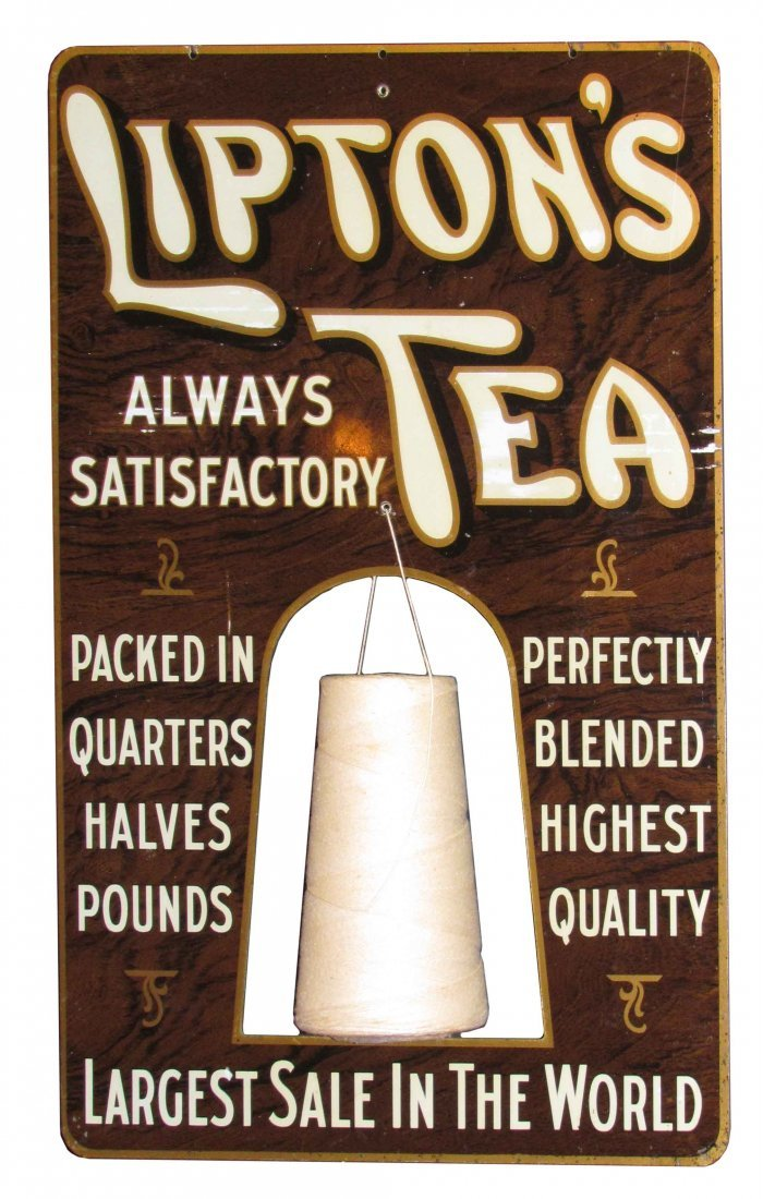 Lipton Tea Tin String Holder