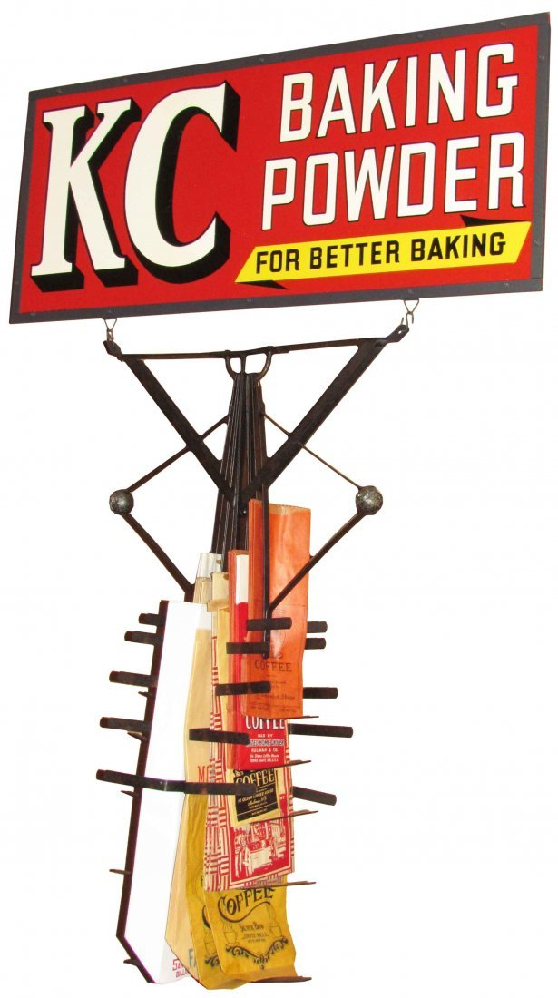 Rare KC Baking Powder Bag Holder