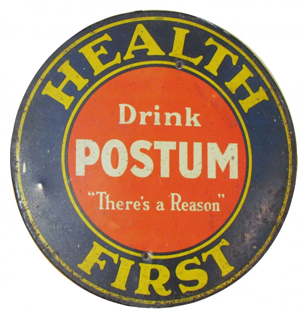 Postum Tin String Holder