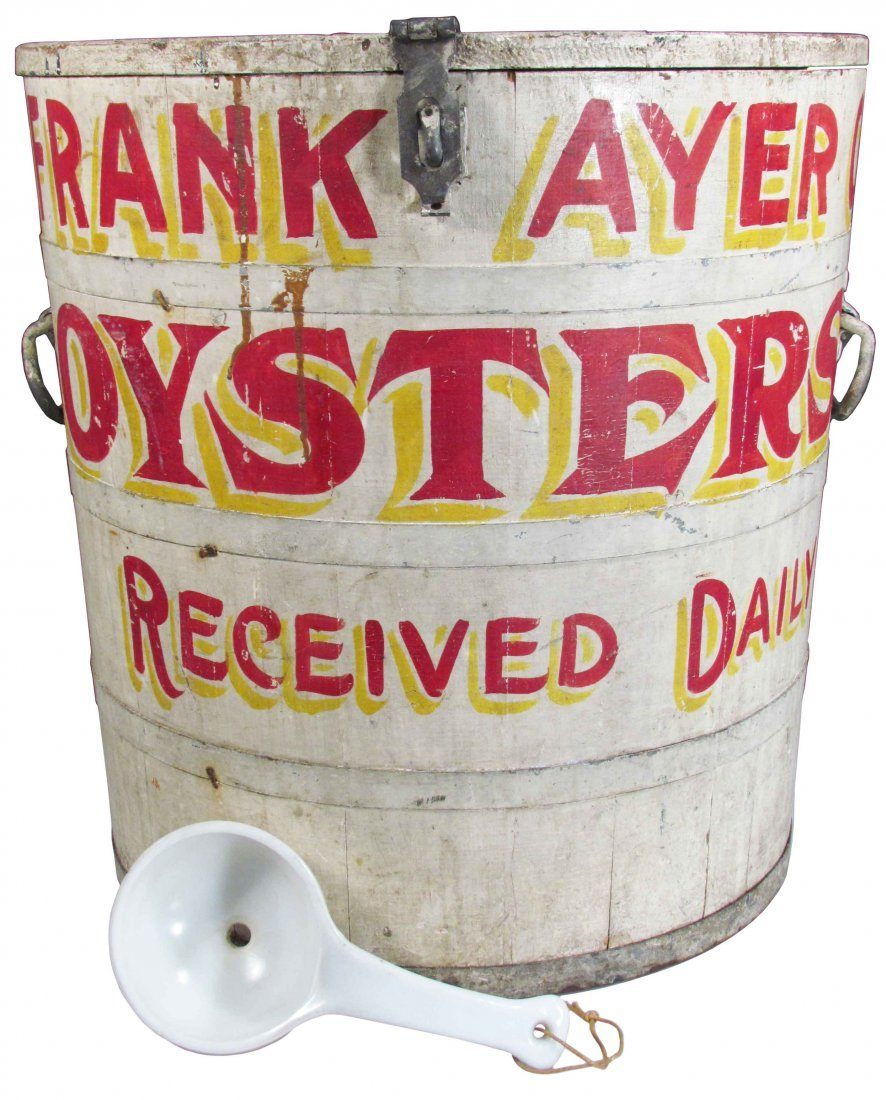 Frank Ayer Store Display Oyster Barrel