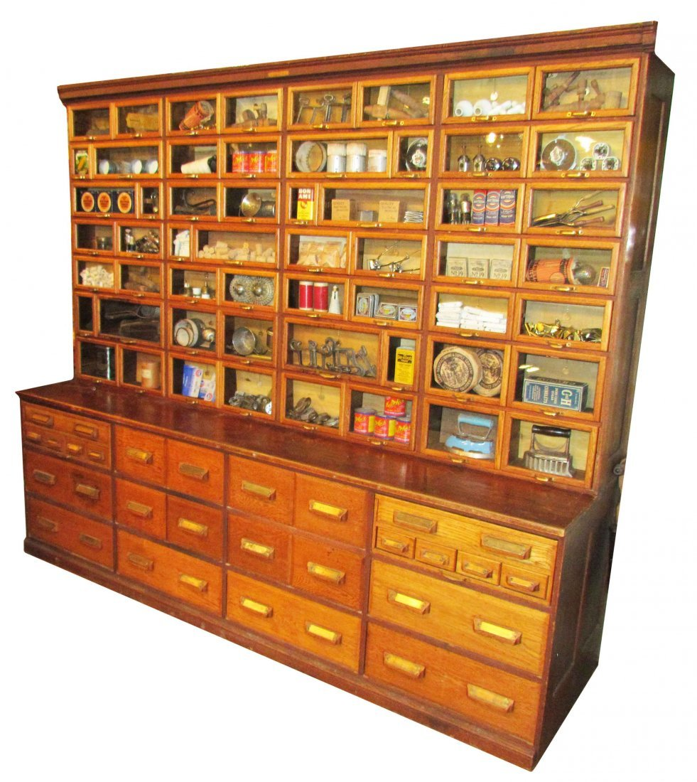 Hardware For Oak Kitchen Cabinets: Oak Hardware Store Cabinet