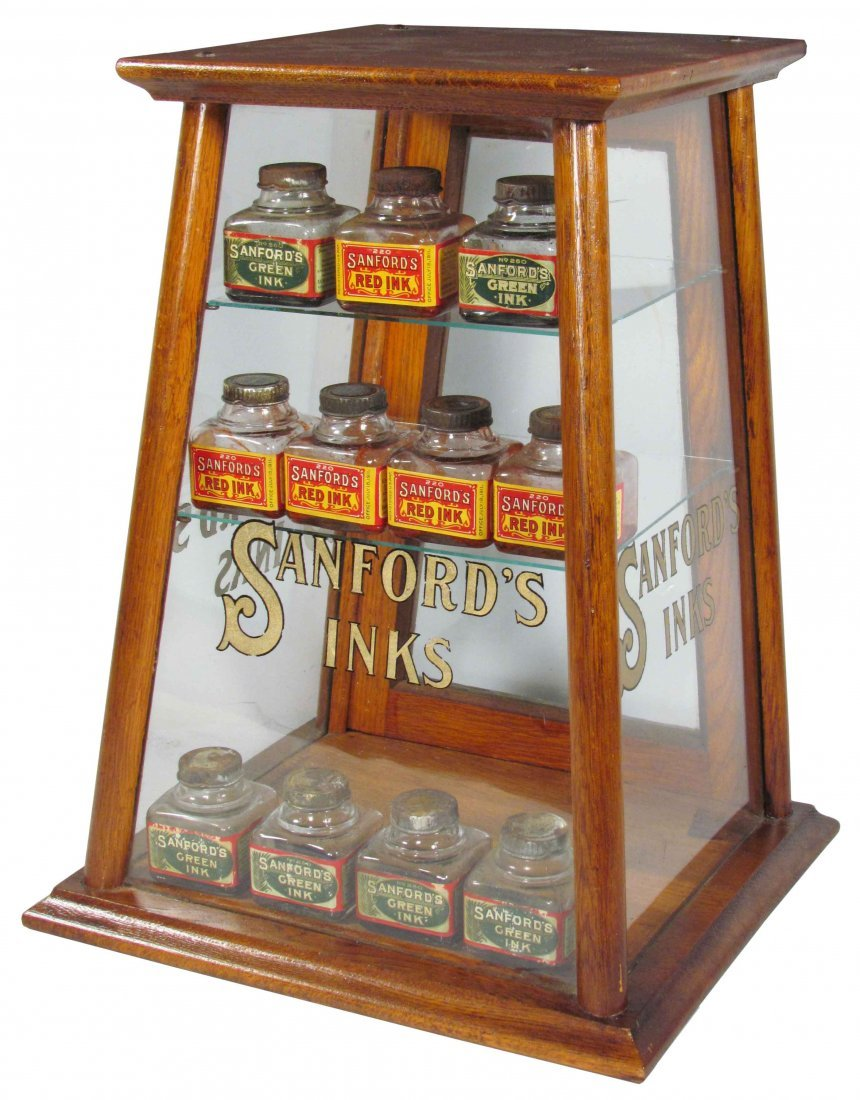 Sanford's Inks Store Display Case