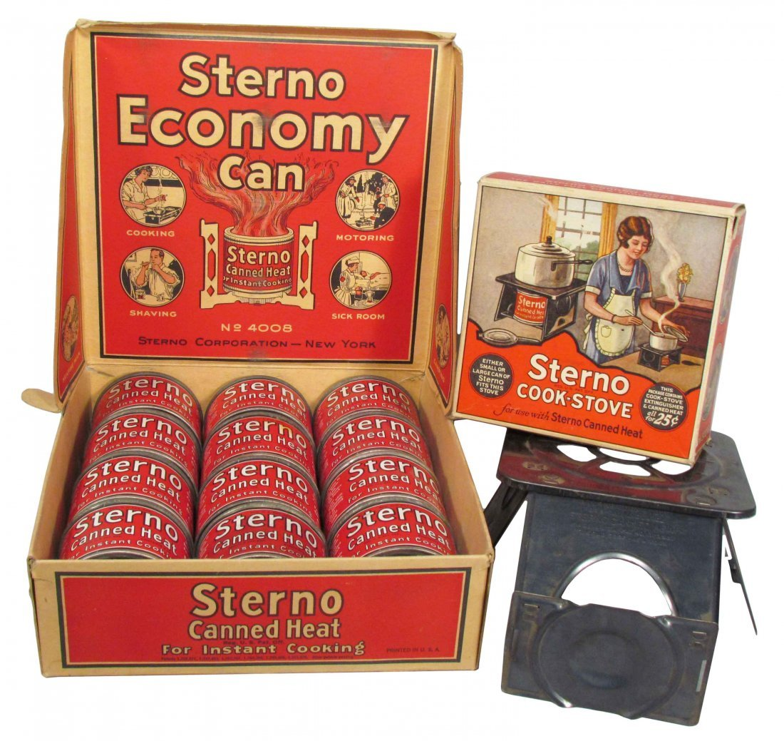 Sterno Cook Stove and Canned Heat Display